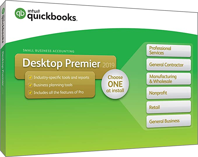 QuickBooks Premier 2019 UK Version (VAT)