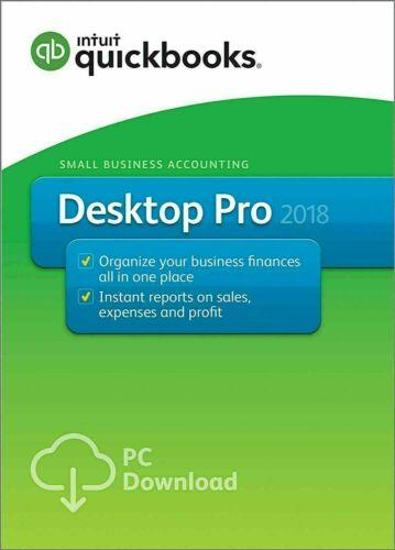 Intuit QuickBooks Desktop Pro 2018 US Lifetime (Windows) – 3 User